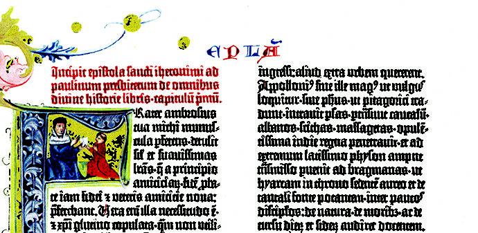 Partial Gutenberg Bible Page Image